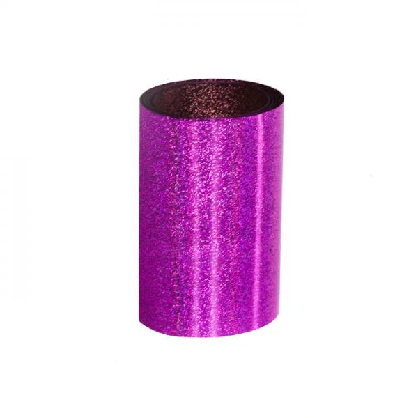 Purple Foil - Gel Nails
